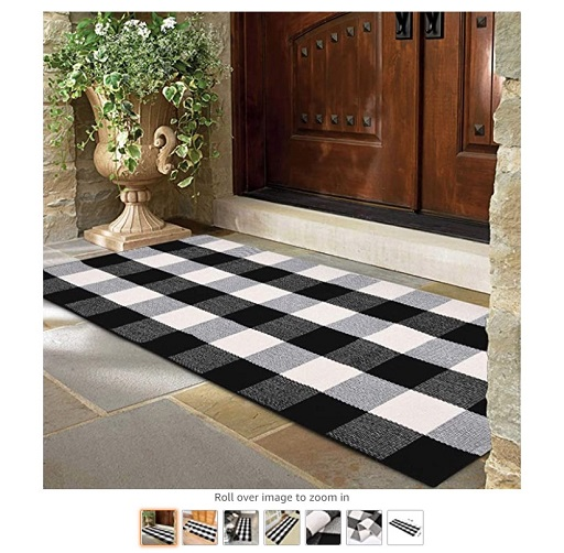 Best Rugs For High Traffic Areas 10 Area Rug Black White and Gray Classic Plaid Runner Rugs - Copy