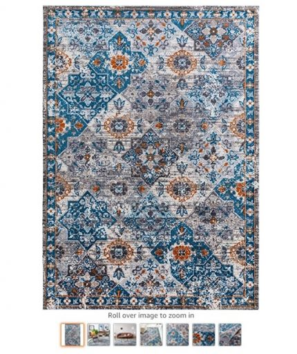 Best Rugs For High Traffic Areas 2 Decomall Vienna Traditional Vintage Distressed Floral Runner Rug for Hallway, Kitchen, Bedroom, Living Room, 2.5x9 ft, Multicolor - Copy