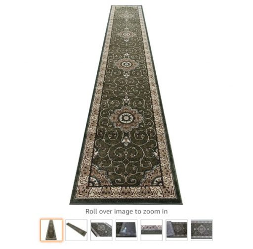 Best Rugs For High Traffic Areas 3 Traditional Long Runner Area Rug Design 404 Green (32 Inch X 15 Feet 10 Inch)