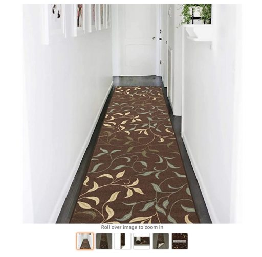 Best Rugs For High Traffic Areas 5 Ottomanson Ottohome Collection Contemporary Leaves Design Modern Hallway Runner Rug,