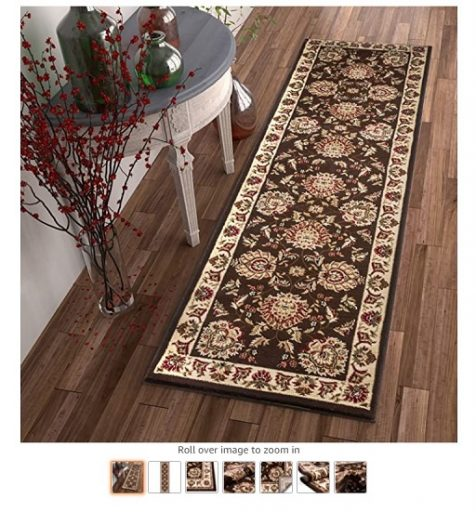 Best Rugs For High Traffic Areas 6 Sultan Sarouk Brown Oriental - Copy