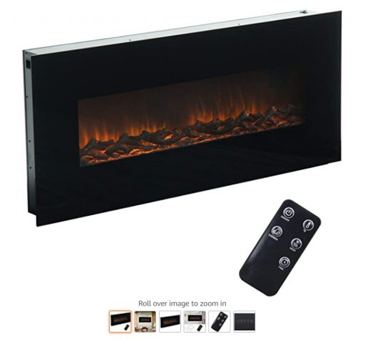 Best Wall Mounted Fireplace 6 Halen ballad 50inch Electric Fireplace for Living Room Wall Mount with Remote Control Adjustable