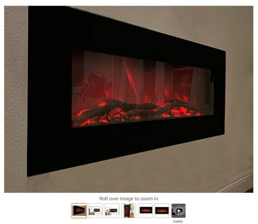 Best Wall Mounted Fireplace 7 XBrand Wall Mount Adjustable Fireplace Heater with Manual Remote Control and LED Flame Effect