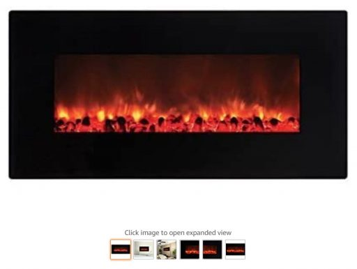 Best Wall Mounted Fireplace 9 AA Warehousing 36 Inch Black Wall Mount Electric Fireplace by Y Decor FP900, Medium