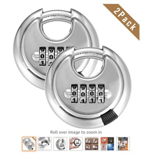 best combination padlocks 2 4 Digit Combination Disc Padlock with Hardened Steel Shackle Outdoor Combo Gate Lock for Sheds