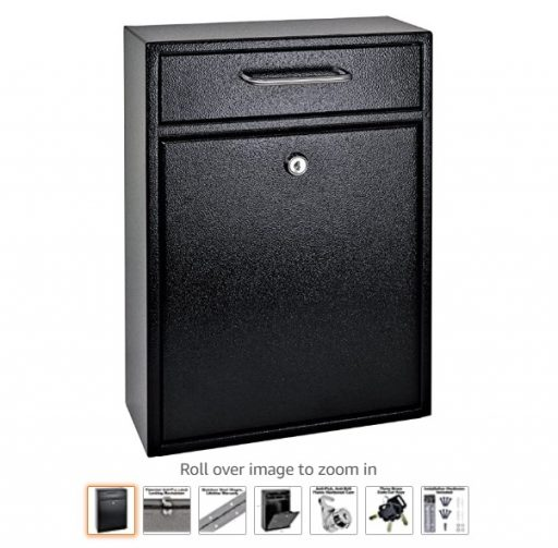best wall mount mailboxes 1 Mail Boss 7412 High Security Steel Locking Wall Mounted Mailbox-Office Comment Letter Deposit