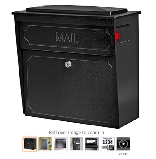 best wall mount mailboxes 2 Mail Boss 7172 Townhouse, Black Home vertical wall mount security mailbox