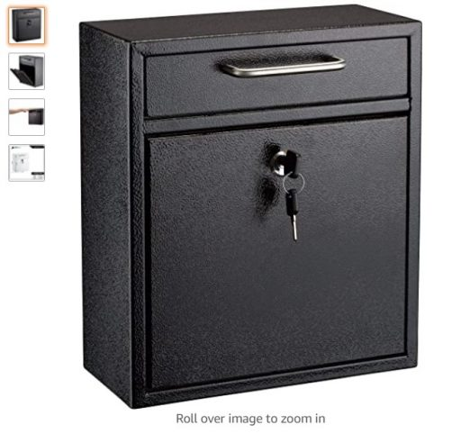 best wall mount mailboxes 6 AdirOffice Ultimate Drop Box Wall-Mounted Mailbox - Hanging Secured Postbox