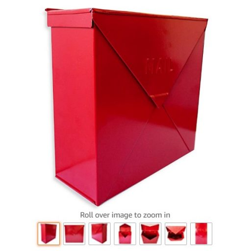 best wall mount mailboxes 7 NACH MB-6300RD Chicago Red Industrial Style Mailbox - Wall Mounted