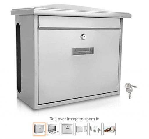 best wall mount mailboxes 8 Serenelife Modern Wall Mount Lockable Mailbox Commercial Rural Home Decorative