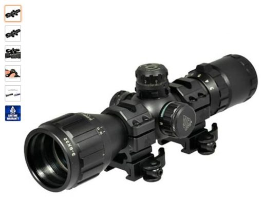 Best Ar-15 Scopes 3 UTG 3-9X32 1 BugBuster Scope, AO, RGB Mil-dot, QD Rings