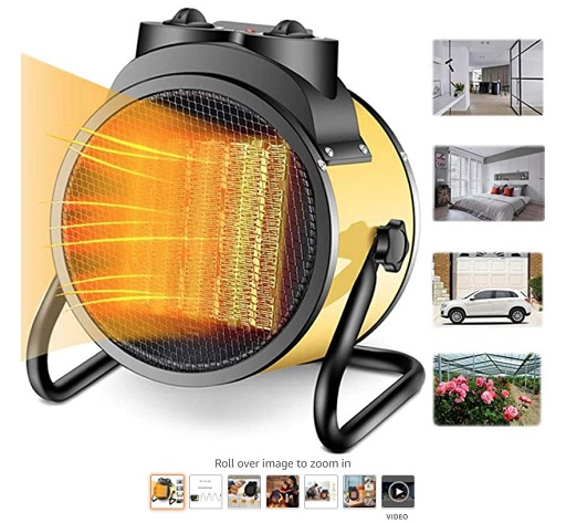 Best Electric Garage Heaters 8 Electric Garage Heater - Greenhouse Fan Heater Portable Space Heater, Adjustable Thermostat, - Copy