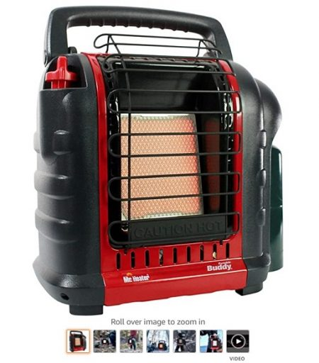 Best Gas Garage Heaters 2 Mr. Heater F232000 MH9BX Buddy 4,000-9,000-BTU Indoor-Safe Portable Propane Radiant Heater, Red-Black - Copy