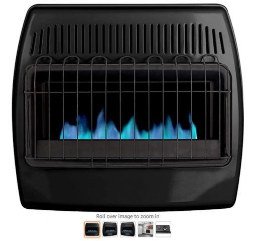Best Gas Garage Heaters 5 Dyna-Glo 30,000 BTU Blue Flame Thermostatic Garage Vent Free Wall Heater, Black