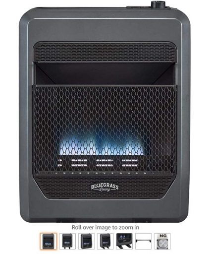 Best Gas Garage Heaters 7 Bluegrass Living B20TNB-BB Vent Free Blue Flame Gas Space Heater with Blower - Copy