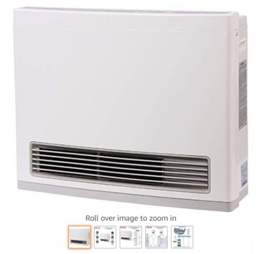 Best Gas Garage Heaters 8 Rinnai FC824N Vent-Free Space Heater, Large, White