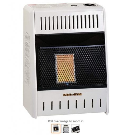 Best Gas Wall Heaters 2 ProCom Heating INC MN060HPA 6,000 BTU Natural Gas Infrared Wall Heater, White - Copy