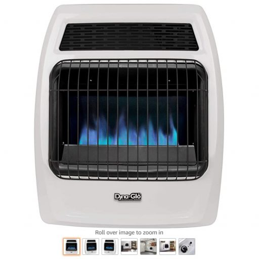 Best Gas Wall Heaters 8 Dyna-Glo BFSS20NGT-2N 20,000 BTU Natural Gas Blue Flame Thermostatic Vent Free Wall Heater, White
