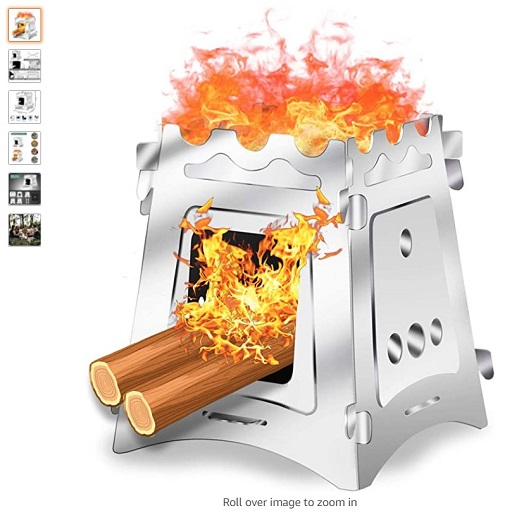 Best Wood Burning Camping Stoves 3 VODA Camping Wood Stove Burner for Outdoor Camping Hiking Cooking Outside Light Weight Portable Backpacking Stainless Steel Stoves - Copy