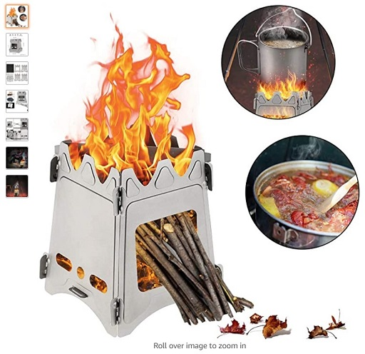 Best Wood Burning Camping Stoves 4 Gulrear Ultralight Camping Stove Folding Weighs 7.3 OZ 100% Pure Titanium Wood Burning Camping Stove Portable - Copy