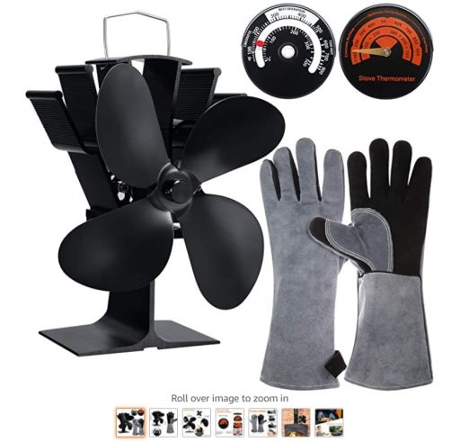 Best Wood Stove Fans 7 4 Blade Heat Powered Wood Stove Fan