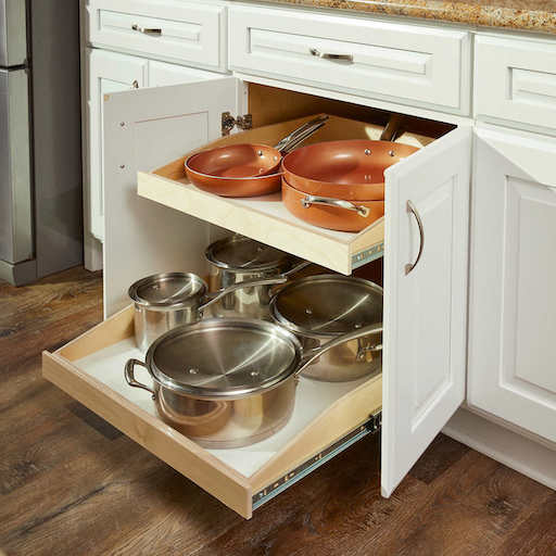 Kitchen Additions That Will Make It Safer For Your Family 7 Pull-Out Shelves in Cupboards copy