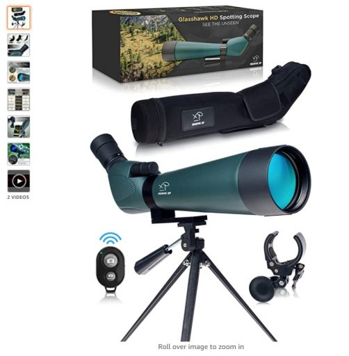 best spotting scopes 3 CREATIVE XP Spotting Scope with Tripod 20-60x80mm - BAK 4 Prism Spotting Scopes