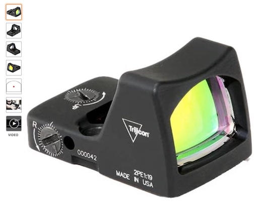 Best Red Dot Sights 7 Trijicon RMR Type 2 6.5 Moa Red Dot Sight
