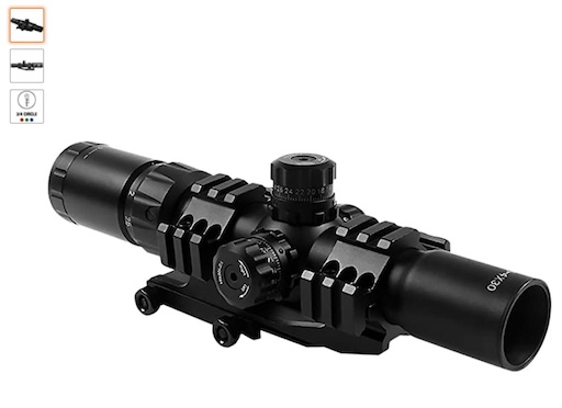 Best Scopes For Ruger AR 556 8 Aim Sports JTHR1 With Locking Turrets Scope
