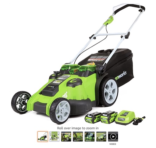 Best Battery Powered Lawn Mowers 3 Greenworks 40v 20 Inch Cordless Twin Lawn Mower