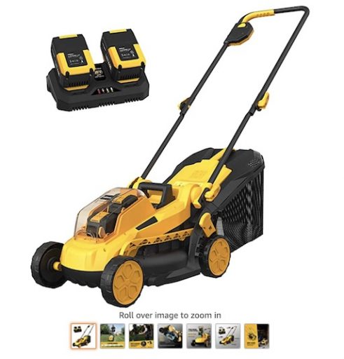 Best Battery Powered Lawn Mowers 6 Achiforce Cordless Lawn Mower With Lithium Batteries