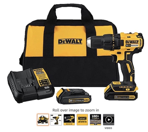 Best Battery Powered Tools 1 Dewalt 20v Max Cordless Drill:Driver Kit