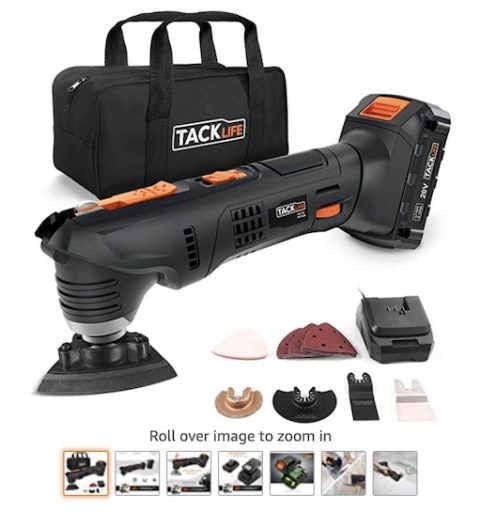 Best Battery Powered Tools 10 Oscillating Tool Tacklife PMTO3B 20v Max Cordless Tool