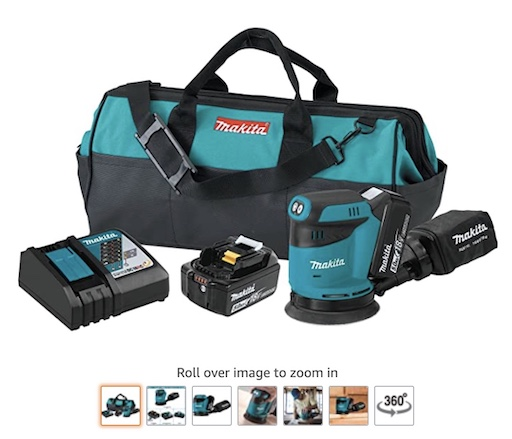 Best Battery Powered Tools 4 Makita Xobolt 18v LXT Lithium Sander Kit