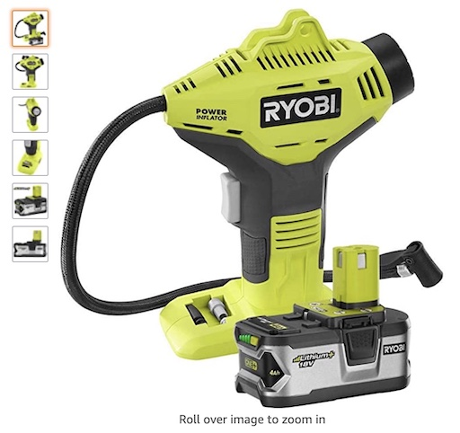 Best Battery Powered Tools 7 Ryobi P737 18 Volt One Cordless Power Inflator