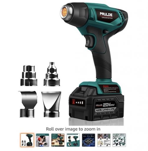 Best Battery Powered Tools 8 Cordless Heat Gun With Charger And Rechargeable Battery