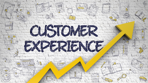 Customer Experience Drawn on White Brickwall. 3D