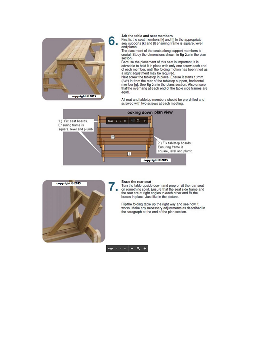 2 In 1 Folding Picnic Table and Bench Combo