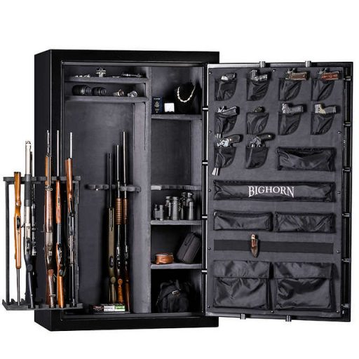 Gun safes with internal hinges are not easy to crack.