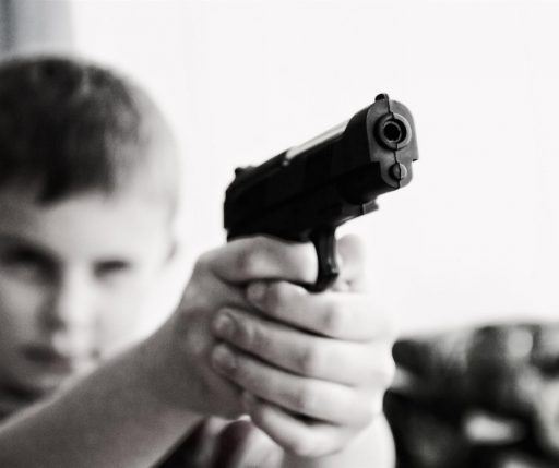 Keep the children away from the weapon.