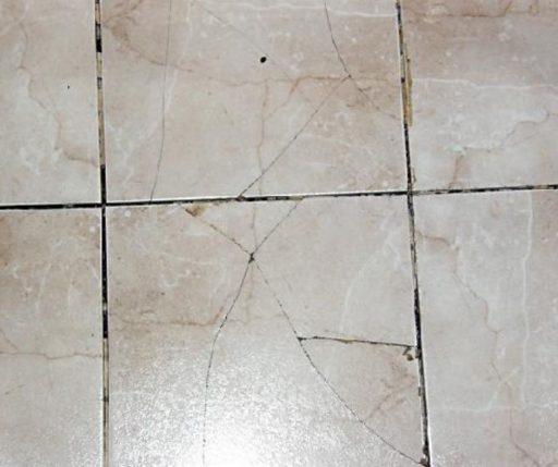 Your gun safe can damage your tile floor.